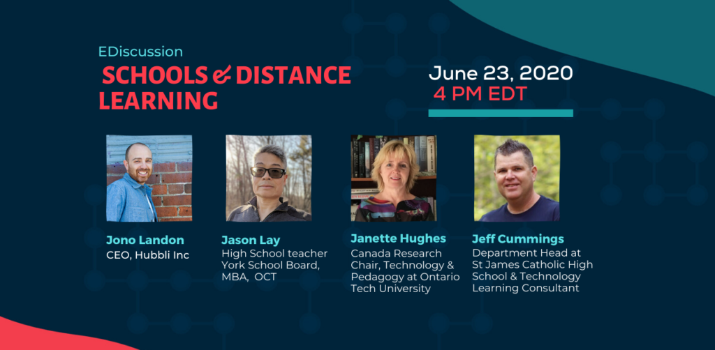Online discussion with four canadian experts on distance learning in schools
