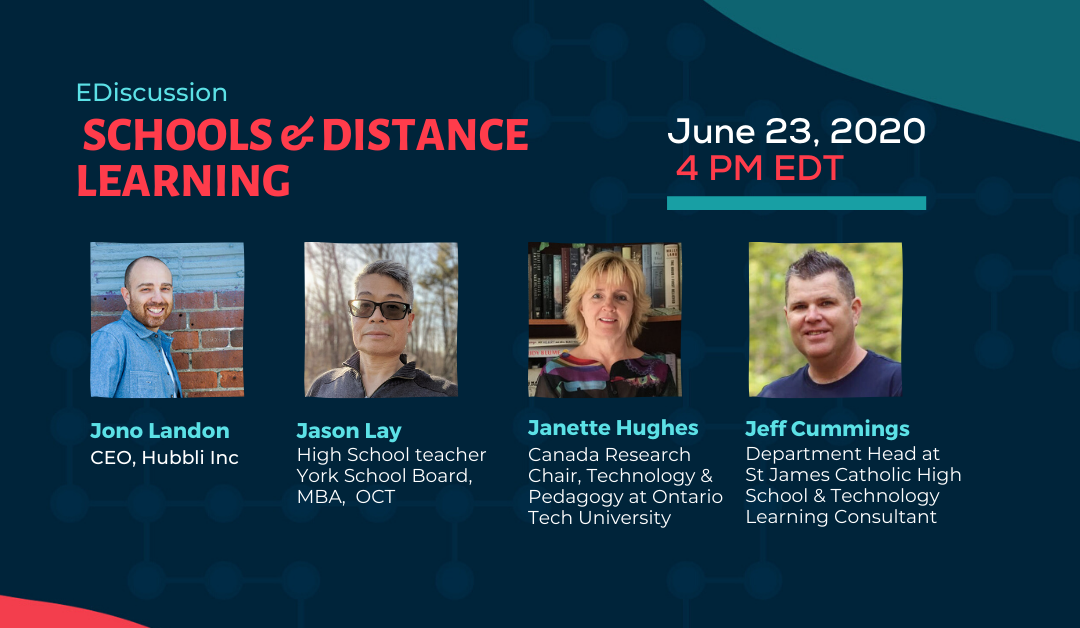 Event: Canadian Schools & Distance Learning during Covid-19 – June 23, 2020