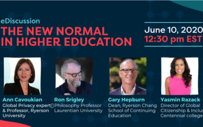 The New Normal in Higher Education challenges universities & colleges on privacy & quality of learning