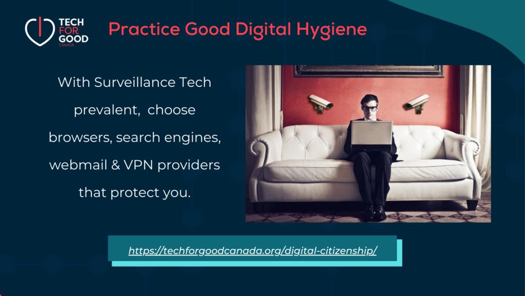 Good digital online hygiene means leave Google