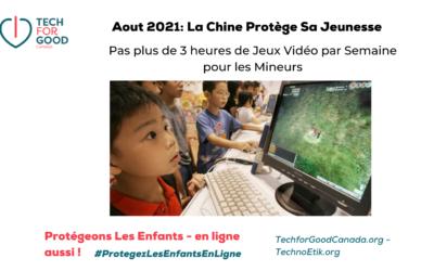 La Chine Réduit encore les Jeux Vidéo pour les Mineurs à un Maximum de 3 heures par semaine